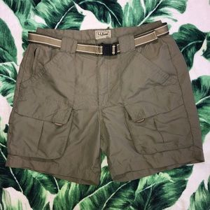 Vintage 90s LL Bean Cargo Tactical Shorts Green S